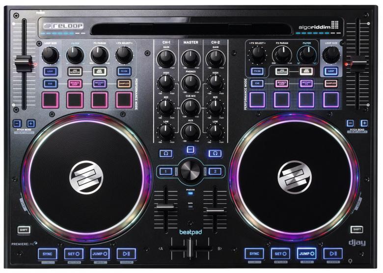 RELOOP Beatpad DJ kontrolleri, joka toimii iPADin, IPHONEN PC ja MACin voimalla. Voit käyttää mm. DJAY by Algoriddim softaa.Sisäänrakennettu USB äänikortti.Plug and Play eli laite kone päälle asenna DJAY appsoresta.Laadukkaat 15,5cm alumiiniset JOG wheelit. kosketusherkät Ergonomisesti muotoiltu CD/ mikseri design. Pehmeästi liikkuvat 100mm liuku potikat.Ilman hiirtä käytettävät musiikki kirjastot. Kuuloke sekä mikrofoni sisäänmenot.Traktor PRO2 mapit ladattavissa. Stereo XLR balansoitu ulos + booth ja REC. Kaikki kontrollit CLUB mittakaavassa.Traktor 2 kahden dekin mapit saatavilla.