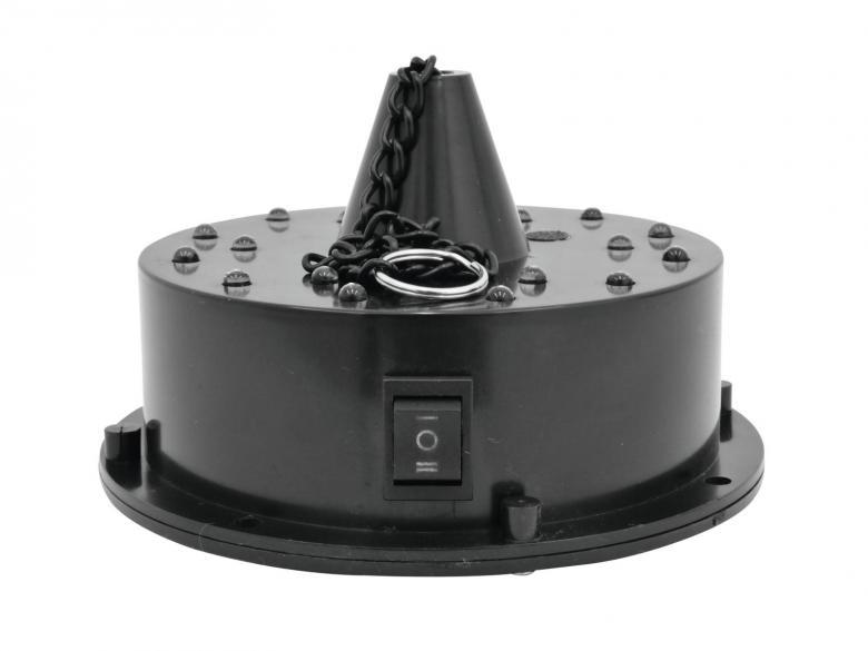 EUROLITE LED FC, Paristokäyttöinen Peilipallon Moottori 16 LEDillä, Battery Mirrorball Motor with 16 LED! Tarvitset vain peilipallon, jotta saat aikaiseksi valoshown!