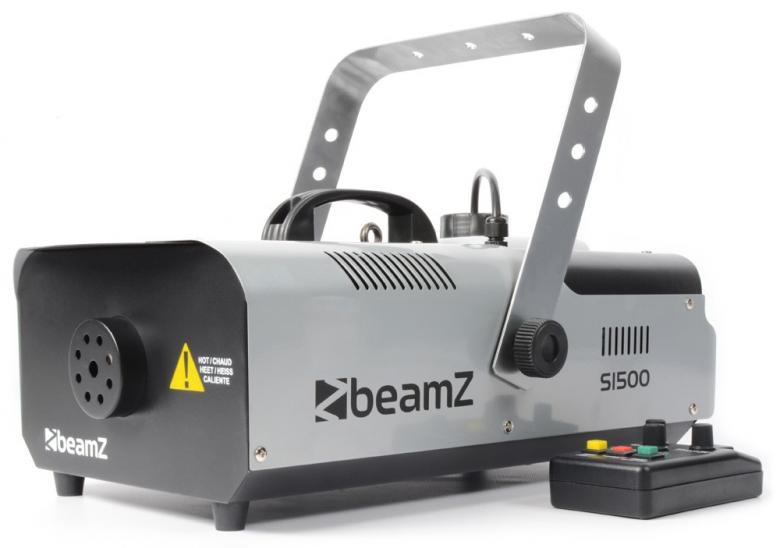 BEAMZ S1500 DMX-Savukone suurella tuotolla 295m³ minuutissa, 1500W lämmitin ajastimella! Soveltuu clubeihin, pubeihin, tiskijukille, bändeille, siirrettävään tai kiinteään käyttöön! Kauko-ohjaimessa on viiden metrin kaapeli. Lisää vain neste ja laite on muutaman minuutin kuluttua valmis käyttöön. Mitat 465x 310x 210mm sekä paino 5.6kg.
