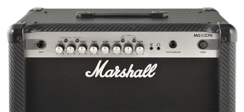 """MARSHALL MG30CFX, 30W kitaravahvistin efekteillä 10"""" kaiuttimella.Marshall MG30CFX pakkaa tarpeeksi hienoja ominaisuuksia, jotka tekevät treenaamisesta hauskaa, Mukana sisäänrakennetut laadukkaat efektit, neljä muistipaikkaa voidaan ohjelmoida muistamaan suosikkiasetuksesi heti. Etsi ihanteellinen soundi, paina Tallenna-nappia, ja asetukset on lukittu kyseisen muistipaikaan kunnes säädät ja tallennat sen uudelleen."""
