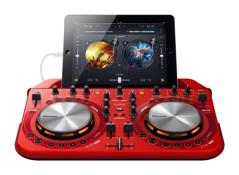 PIONEER DDJ-WeGO2 DJ kontrolleri punaine, discoland.fi