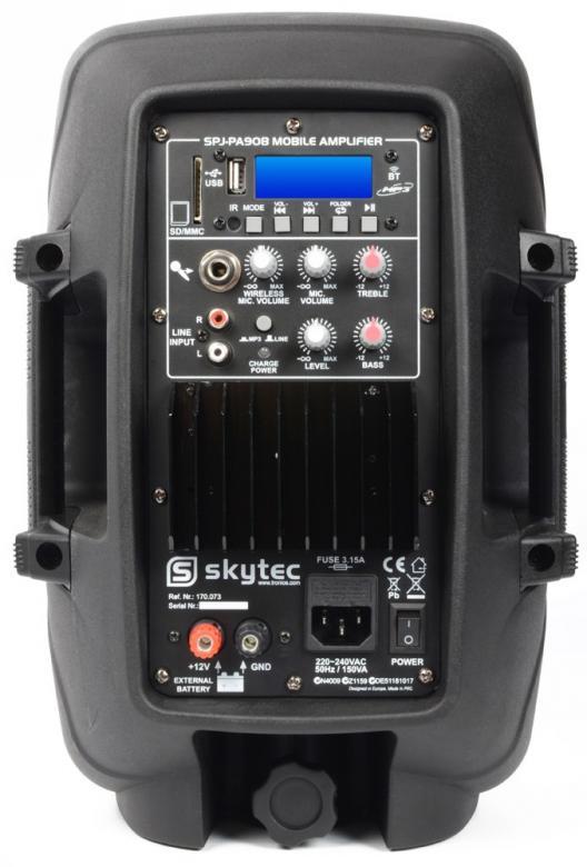 SKYTEC SPJ-PA908 aktiivikaiutin akulla 8