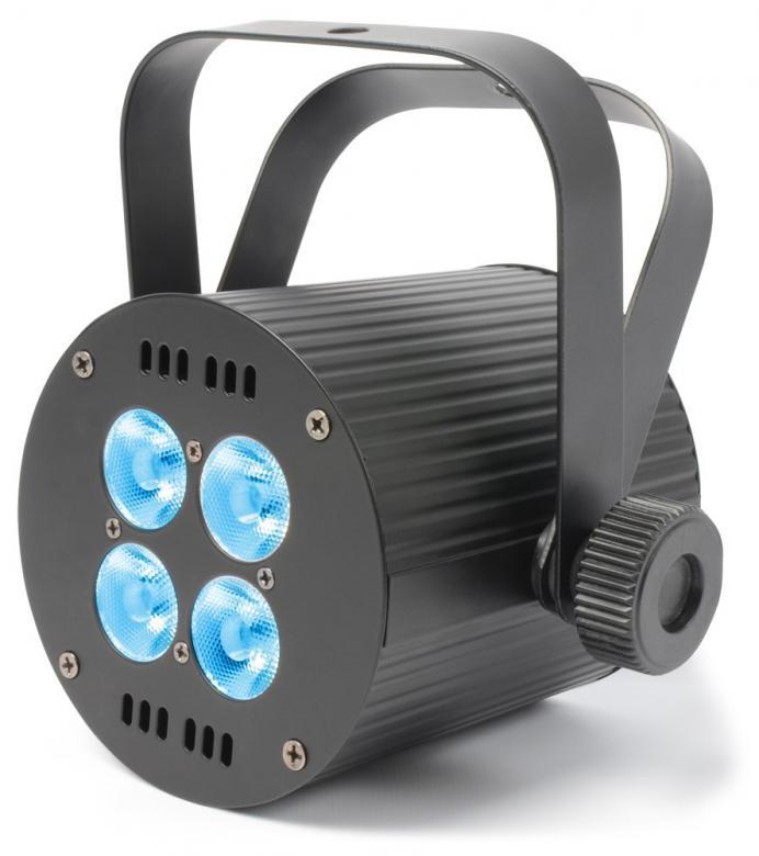 BEAMZ LED Quad 4x8W spot RGBW 25° Beam Angle Pieni ja tehokas LED-spotti. Todella pieni QUAD Ledillä varustettu spotti lattia tai teline asennukseen. DMX linkitettävissä, LCD näyttöpaneelista voit valita musiikkiohjauksen, master/slave. Mitat 125 x 125 x 100mm sekä paino 1,5kg.