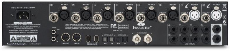 FOCUSRITE LIQUID SAFFIRE 56,FireWire-audio interface mallintavilla etuvahvistimilla. Liquid Saffire 56 on Focusriten Saffire-sarjan lippulaivamalli. Se pitää sisällään mm. kaksi mallintavaa Liquid etuvahvistinta. FireWire-audio interface mallintavilla etuvahvistimilla. Liquid Saffire 56 on Focusriten Saffire-sarjan lippulaivamalli. Se pitää sisällään mm. kaksi mallintavaa Liquid etuvahvistinta. Kahdeksan mikkisisääntuloa, kahdeksan linjasisääntuloa, kaksi instrumenttisisääntuloa