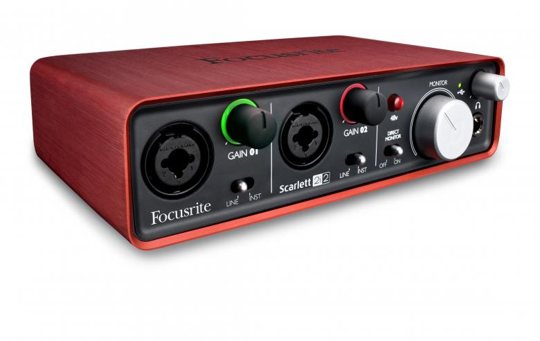 FOCUSRITE Scarlett 2i2, Interface 2in/2o, discoland.fi