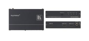 KRAMER VM-2Hxl HDMI Splitter, 1xIn 2xOut. HDMI jako vahvistimella 1kpl sisään 2kpl ulos. Mitat 12cm x 7.2cm x 2.4cm sekä paino 0,3kg.