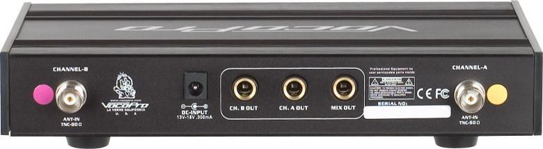 VOCOPRO UHF-3205 Langaton ladattava mikrofonisetti lataus asemalla. Tämä setti pitää sisällään 2kpl käsimikrofoneja sekä 1kpl dual-vastaanottimen sekä näppärän lataustelineen ja akut. Legenda on tehnyt paluun ja nyt saatavana uutena versiona 2014 yhteensopivilla taajuuksilla. Taajuudet 656.825Mhz ja 685.960Mhz eli käytettävissä 2014. Laadukas langaton mikki! Karaoke, tiskijukat, juontajat. Erittäin laadukas ja kestävä konstruktio. Soveltuu ammattimaiseen karaoke sekä juonto toimintaan. Hyväksytty käyttö, luvan hinta 18€.