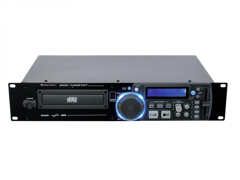 OMNITRONIC XCP-1400MT Single CD-soitin Mastertempo ominaisuudella, Soittimessa mukana kaikki tärkeimmät DJ- ja kuntosalikäyttöön tarvittavat ominaisuudet, esim.+/- 16%.Nopeuden säätö. Loistava tuote vaikka Musiikki-pubiin tai DJ käyttöön, CD-player! Korkealaatuinen single CD-soitin. Helppokäyttöinen. Kappalevalinta sekä ohjelmointi skip/ search nappuloilla.Ohjelmointi mahdollista. LOOP toiminnolla voit valita tietyn osan soitettavaksi.Nopeudensäätö +/- 16%. 19