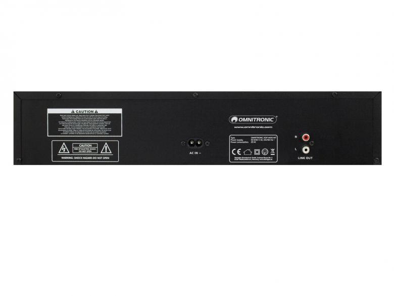 OMNITRONIC XDP-1400MT CD soitin Master tempo. Single CD/MP3/SD/USB Player. Kansio Haku Kaukosäädin. Antishok buffer. Nopeuden säätö. Kansio Haku, Kaukosäädin, Antishok buffer,  Nopeuden säätö ±16%. Soittaa CD, MP3 levyt, tikulta,kortilta.