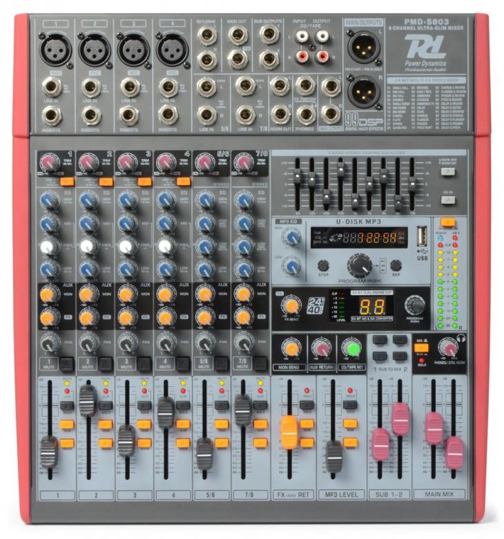 POWERDYNAMICS PDM-S803 8-kanavainen miks, discoland.fi
