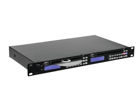 OMNITRONIC DMP-202 Tupla CD USB soitin CD/ CD-R/CD-RW ja USB-portilla toisto MP3. Nopeuden säätö ±16 %. Laitteen korkeus vain 1U, räkkiasennus 19