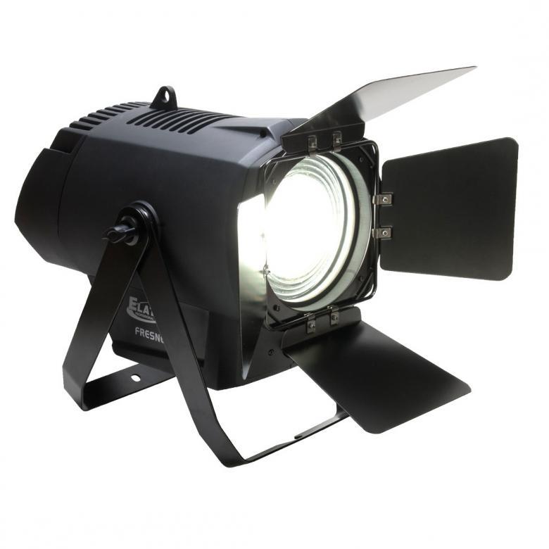 ELATION DW Fresnell LED 250W 100000h profiili heitin Led valolähteellä. Värilämpö säädettävissä 3200K-7000K välillä. 12° - 41° Manual Zoom. Flicker välkkymisvapaa, DMX 3 ja 5 pin- in ja out. RDM remote device management. Valoteho 28,520 LUX @ 2.5M (13° 4,800K Min. Zoom) Mitat Length: 559mm  Width: 285mm Height: 453mm Weight: 10kg