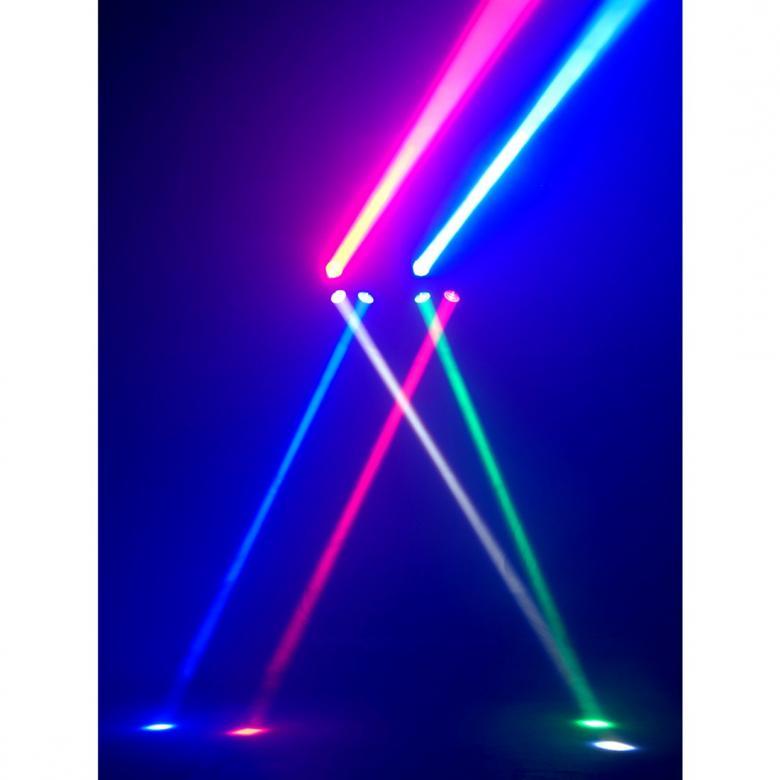 """ADJ Octo Beam RGBW Nyt entistä kirkkaampana! ADJ:n on suunniteltu tekemään ja hämmästyttämään yleisö kahdeksalla erittäin kirkkaalla 3W värillisellä LEDillään. Tämä laite tarjoaa kaikki modernit ominaisuudet joita ammattilaiset tämän kaltaisista valoista hakevat: DMX-512 ohjelmointiin ja linkitykseen, 8x 3-watin RGBW """"Neliväri"""" LEDiä - tuottaa suuren määrän värejä."""