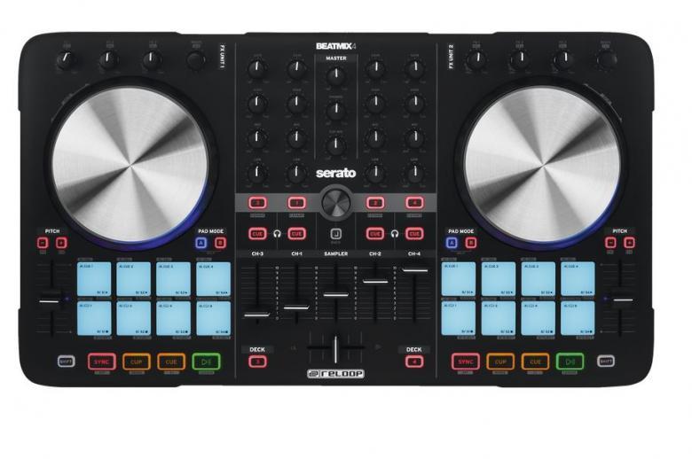 RELOOP BeatMix 4 DJ-Kontrolleri neljäll, discoland.fi