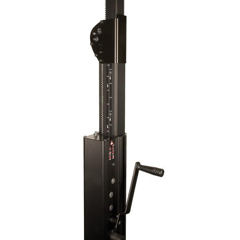 DURATRUSS DT ST-5000P trussi-, kaiutin- tai valoteline vinssillä, max. korkeus 5,0m, max. kuorma 150kg.