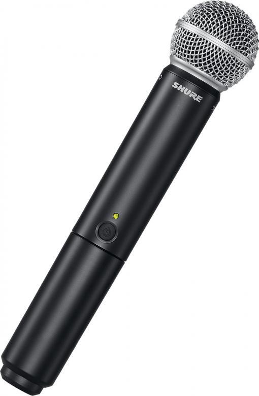SHURE BLX2/PG58 käsilähetin mikrofoni 518-442Mhz