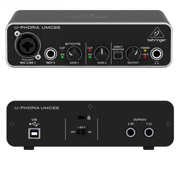 BEHRINGER LOPPU!U-Phoria UMC22 USB ään, discoland.fi