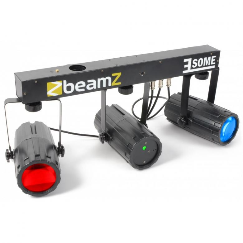 BEAMZ 3-Some Light Set Laser+ 2x 57 RGBW, discoland.fi