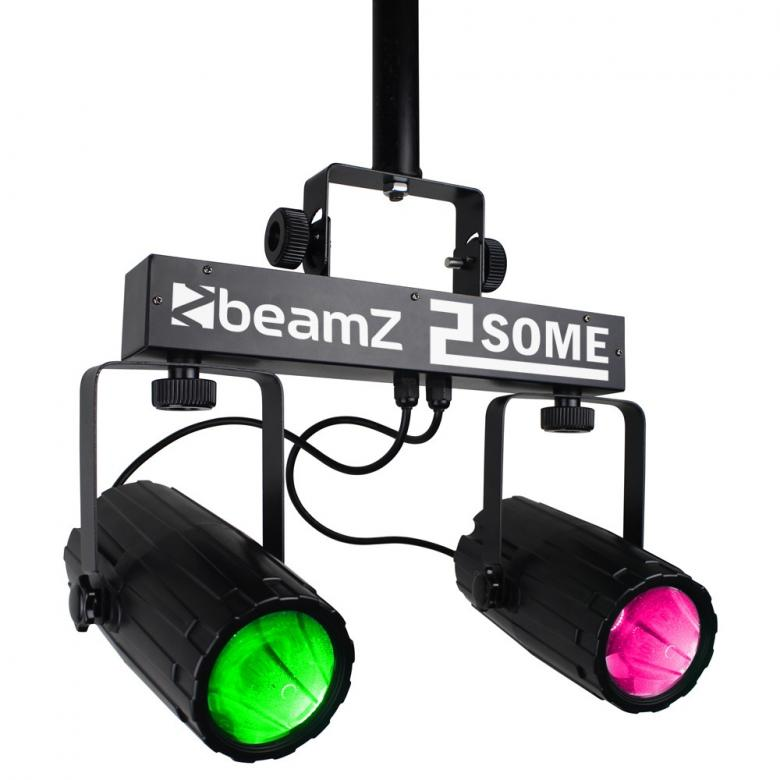 BEAMZ 2-Some LED-valosetti 3x57 RGBW LED, discoland.fi