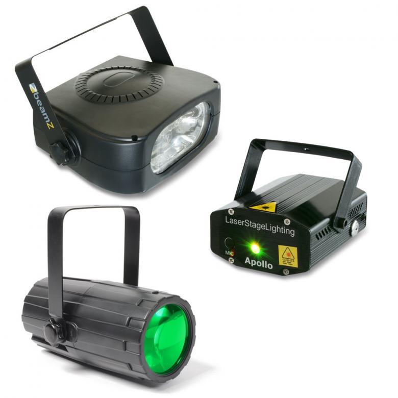 BEAMZ Disco valopaketti-4 Väriä laser , discoland.fi