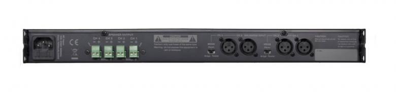 AUDAC DPA74 Amplifier 4x 75W 4ohms Monikanava päätevahvistin, Quad Channel Class D Amplifier - 4 x 75 Watt.4-kanavainen vahvistin tuoden 4x 75 Watin tehon DPA-tuotesarjaan kuuluu kuusi D-luokan kevyttä ja pienikokoista (1U) vahvistinta 2-, 3- ja 4-kanavaisina tuoden loistavan äänenlaadun erilaisiin sovelluksiin. Tuotesarja on erittäin hiljainen, koska sen tuotteet ovat täysin passiivisesti jäähdytetyt ilman tuuletinta.