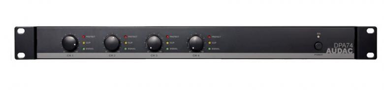 AUDAC DPA74 Amplifier 4x 75W 4ohms Monik, discoland.fi
