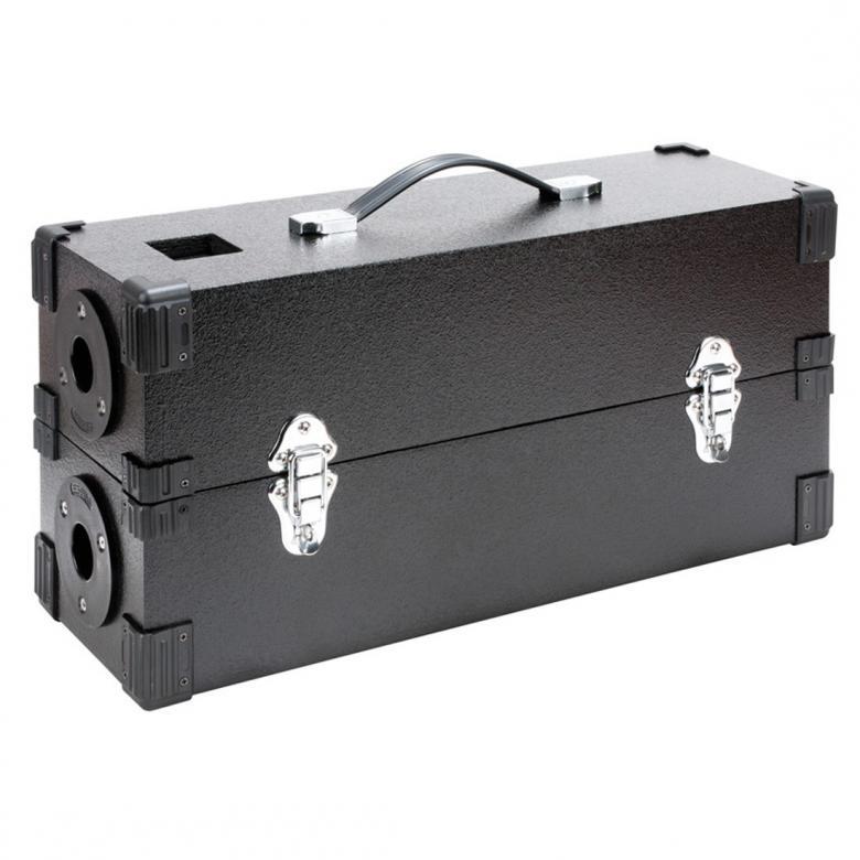 ADJ Flashback Old school valoefekti on paluu takaisin 70-luvulle. Näppärä keikalla, koska saat suoraan casen ja kaksi valoa tolppien päähän. Mitat 568 x 192 x 280mm sekä paino 6.9kg.