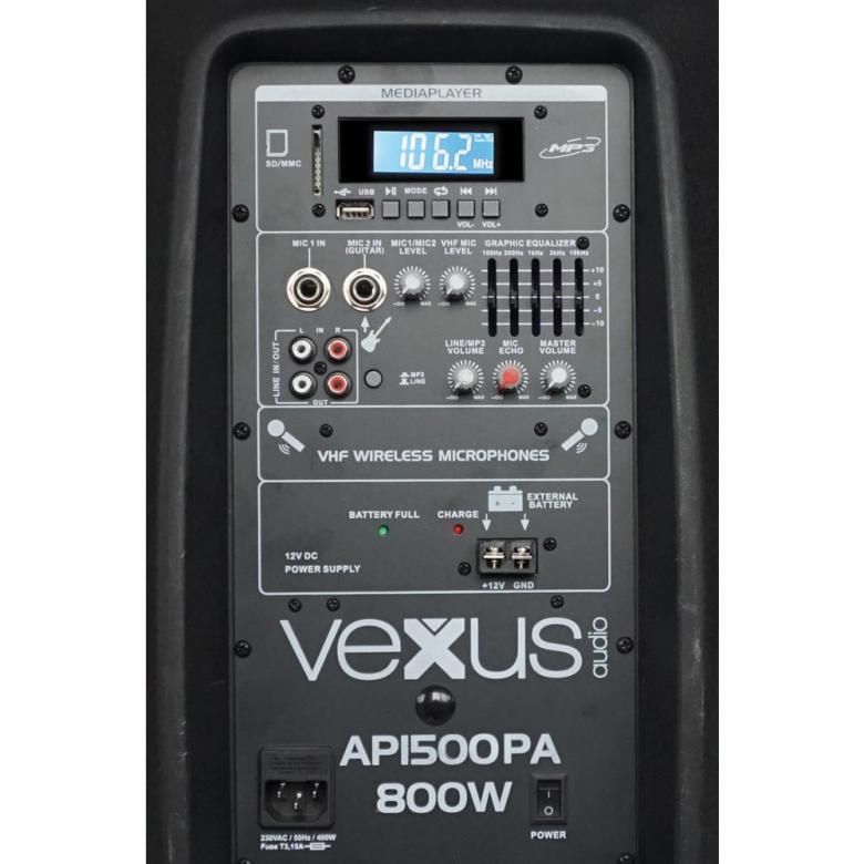 VONYX AP1500PA aktiivikaiutin 800W akulla 15