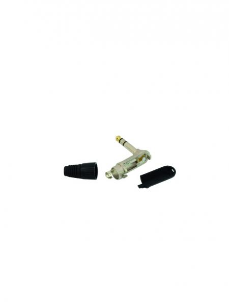 OMNITRONIC Jack plug 6.3mm stereo 90° ROAD /10