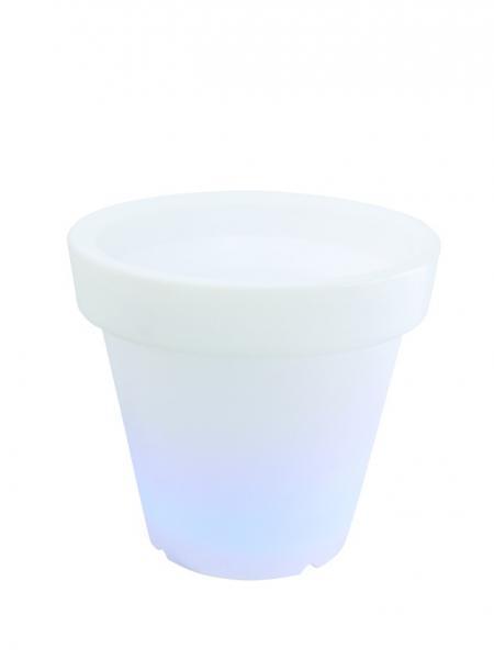 EUROLITE LED-kukkaruukku värinvaihdolla sisä- ja ulkokäyttöön, LED Flower Pot 66x61cm