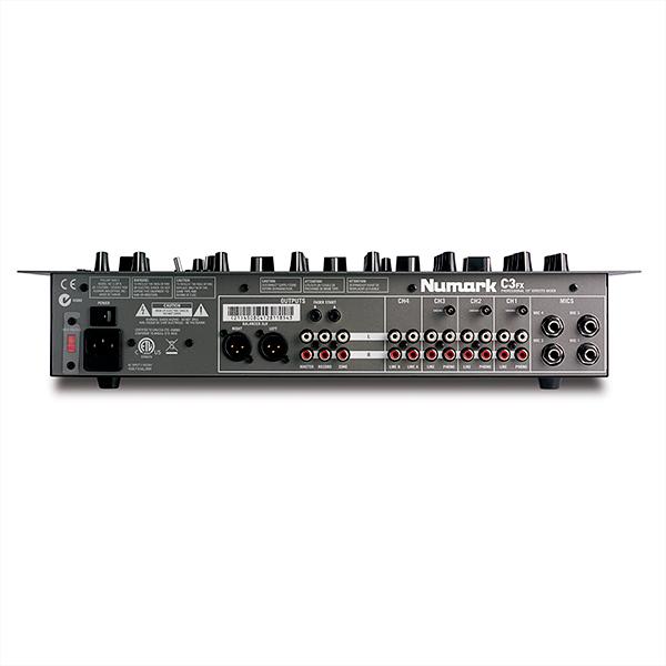 NUMARK C3FX  DJ & Karaoke Mikseri, Four-Channel Rack Mixer with Built-in Effects, 4-kanavainen räkkimikseri