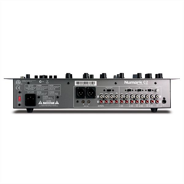 NUMARK C2 Four-Channel Rack Mixer with Five-Band EQ, 4-kanavainen räkkimikseri 5-kanavaisella taajuuskorjaimella