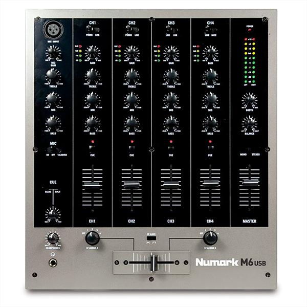 NUMARK M6 USB DJ Mikseri, Neljä kanavaa Sekä USB,  Four-Channel USB DJ Mixer!