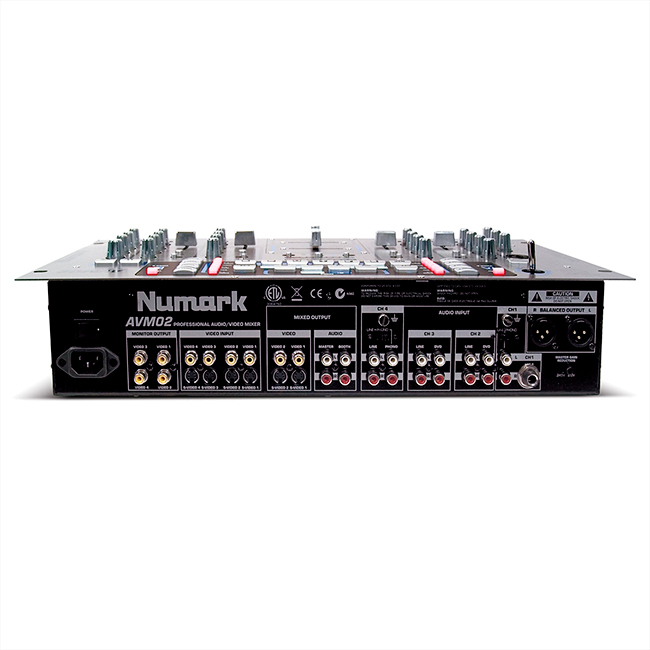 NUMARK AVM02 Professional Audio/Video Mixer With Effects