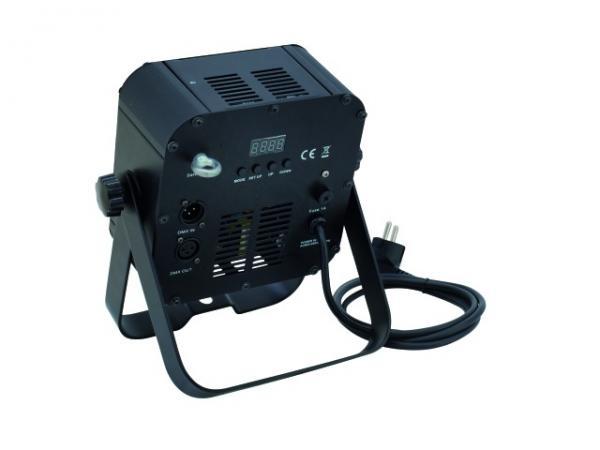 EUROLITE LED SLS-7x3W TCL, Todella tehokas ja ohut LED spotti, joka voidaan asettaa ständiin, trussiin tai lattialle!