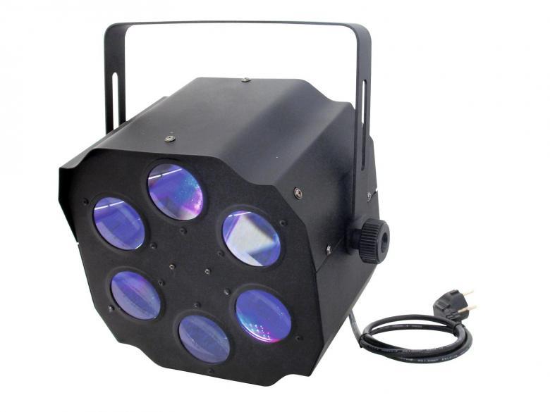 EUROLITE LED Flower-efekti FE-800 RGBAW., discoland.fi