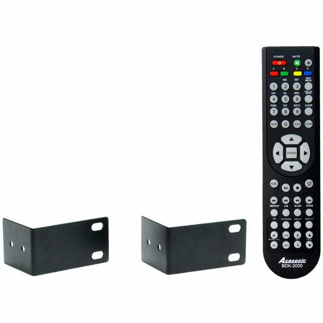 ACESONIC BDK-2000 Blu-ray karaokesoitin On maailman ensimmäinen karaokekäyttöön tehty Blu-ray-soitin, joka soveltuu niin karaokekäyttöön kuin elokuvien katseluun. Soitin toistaa kaikki mediat levyiltä, USB-muistista sekä paikallisesta verkosta HD-laadulla. Soitin tukee kaikkia viimeisimpiä audio, video, kuva ja karaoke formaatteja mm. MP3, WAV, WMA, MPEG-1, MPEG-2 (MPG/VOB), MPEG-4 (AVI), DivX, RMVB, MKV, JPEG sekä MP3G tiedostoja. Sisäänrakennettu Ethernet-portti mahdollistaa kytkennän verkkoon. USB-portin avulla voit helposti hyödyntää ulkoista kovalevyä tai muistitikkua. Kaksi mikrofoniliitäntää mahdollistaa duettojen laulamisen ja molemmille mikrofoneille on omat äänenvoimakkuuden säädöt. Monipuolisen etupaneelin johdosta voit käyttää laitetta ilman kaukosäädintä, etupaneelista löytyy myös kuulokeliitäntä. Soittimessa on säädöt kaiulle, bassolle ja diskantille, sisäänrakennettu transponointi sekä ekvalisaattori. Sis. myös räkkiraudat.