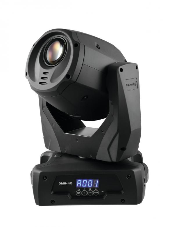 FUTURELIGHT DMH-40 LED Moving Head, 40W, 7 goboa! Tehokas 40W LED moving head upeilla ominaisuuksilla!