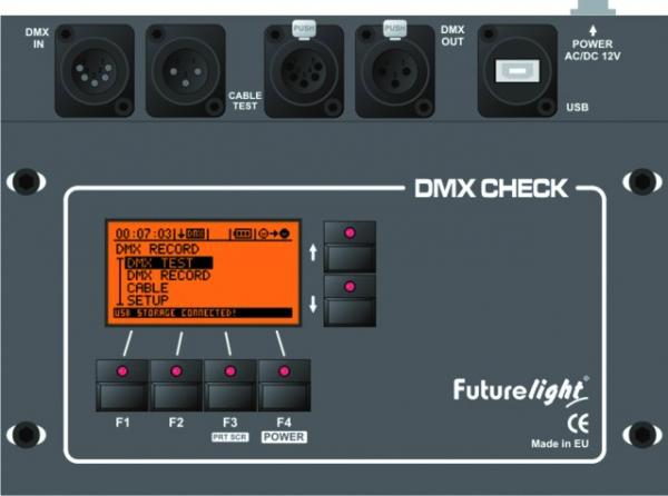 FUTURELIGHT DMX-Check in Case DMX512 Tester, Recorder, Repeater
