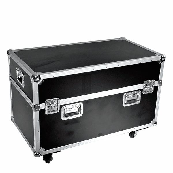 OMNITRONIC Kuljetuslaatikko kahdelle Moving Headille, pyörillä. Flightcase for 2x DJ-Head 575, with castors