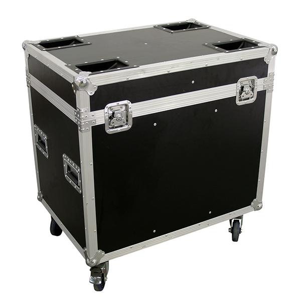 OMNITRONIC Kuljetuslaatikko kahdelle Moving Headille, pyörillä. Flightcase for 2x PHx-575/750E or PHW-575/750E, with castors