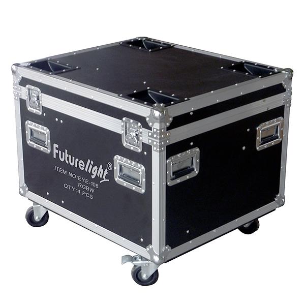 OMNITRONIC Kuljetuslaatikko neljälle Moving Headille, pyörillä. Flightcase for 4x EYE-108, with castors