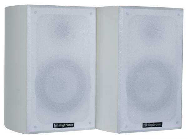 SKYTRONIC Loppu!SHFB50W Valkoinen hyllykaiutin Hifi Kotikäyttöön Pari 100W, Bookshelf set white 5
