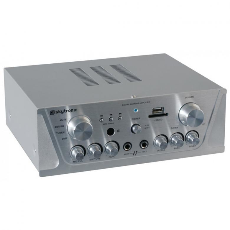 SKYTRONIC VV-1 Vahvistin alumiini USB & , discoland.fi