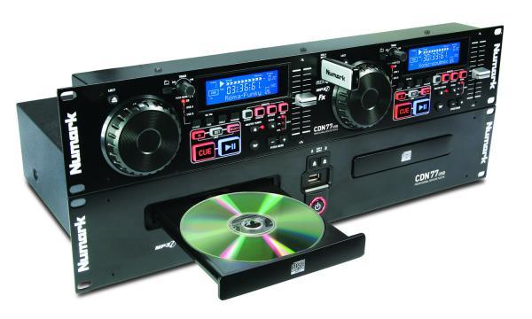 NUMARK CDN77 USB, 2-pesäinen CD/MP3 soi, discoland.fi