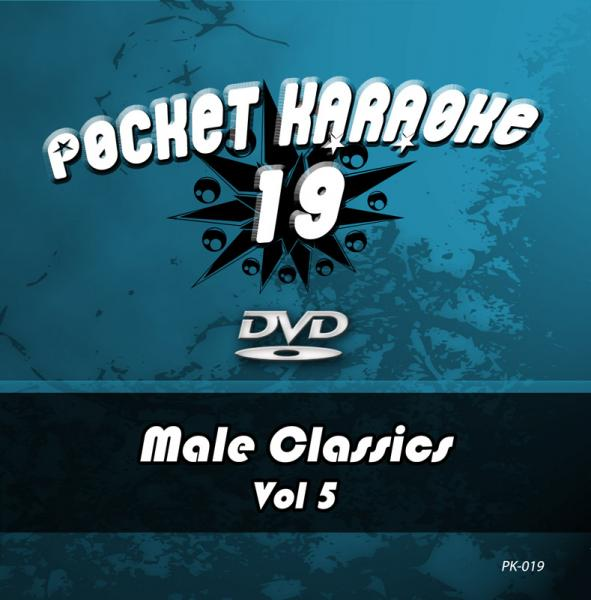 POISTO Pocket Karaoke Vol 19-Male Classics Vol 5 Karaoke DVD sisältää kappaleet: 01. NIGHTS IN WHITE SATIN - THE MOODY BLUES 02. IMAGINE - JOHN LENNON 03. JUST A GIGOLO - DAVID LEE ROTH