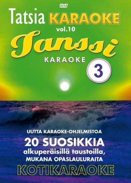 TATSIA Pro karaoke Vol 10 - Tanssi 3 - K, discoland.fi