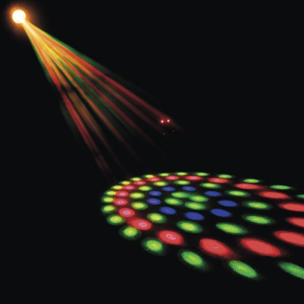 SCANIC LED Magic Light DMX, Suositun LED Matrix efektin pikkuveli! Suositun LED Matrix valoefektin pikkuveli. Laitteessa on 162 LED diodia joiden avulla voit luoda useita erilaisia kuvioita. 162 LEDiä (punainen, vihreä, sininen). DMX-ohjaus (6-kanavaa).7 gobo ryhmää, yksilöity zoom per ryhmä. Säädettävä gobon nopeus. Gobon välähdys ominaisuus. Dynaaminen gobon aihto. Stand-alone ja musiikkiohjaus. Laitteen koko: 300 mm x 215 mm x 240 mm. Laitteen paino: 4.2 kg.