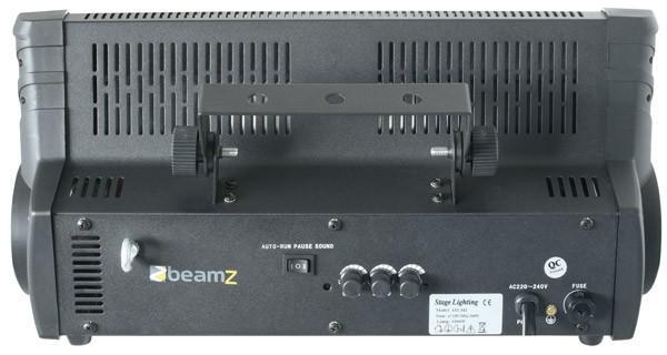 BEAMZ ST-1500 Strobe 1500W musiikkiohjaus, Välähdys nopeus sekä valoteho säädettävissä, mukana myös musiikkin mukaan ohjautuminen, eli sisäänrakennettu mikrofoni! Toimitetaan asennusraudan kanssa. Sopii suuriinkin tiloihin.Mitat 450 mm x 176 mm x 223 mm sekä paino 4,4kg.