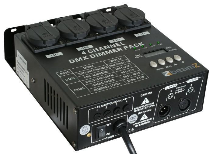 BEAMZ DMX-dimmer4-kanavaa, myös stand-a, discoland.fi